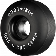 "Mini Logo Skateboard Wheels C-cut ""2"" 53mm 101A Black 4pk"