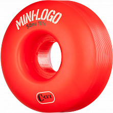Mini Logo Skateboard Wheels C-cut 54mm 101A Red 4pk