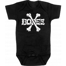 BONES WHEELS Crossbones Onesie Black