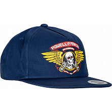 Powell Peralta Winged Ripper Snap Back Cap - Navy