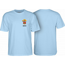BONES WHEELS Weedy T-shirt Blue
