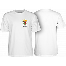 BONES WHEELS Weedy T-shirt White