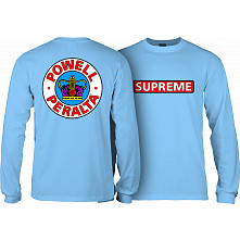 Powell Peralta Supreme L/S T-shirt - Carolina Blue