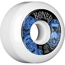 BONES WHEELS STF Time Beasts Skateboard Wheels 53mm 99a  Easy Streets V5 Sidecuts White