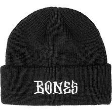 BONES WHEELS Stitch Beanie Black