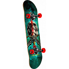 Powell Peralta Skull and Sword Cosmic Green Complete Assembly - 7.5 x 31.375
