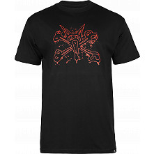 BONES WHEELS T-shirt Ink Black