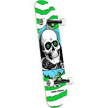 Powell Peralta Ripper One Off Green Birch Complete Skateboard - 7.5 x 30.7