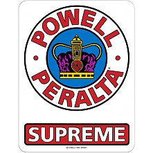 "Powell Peralta Supreme OG Sticker 3.25"" Single"
