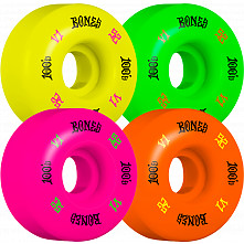 BONES WHEELS 100 Skateboard Wheels 52mm 100A 4pk Multi
