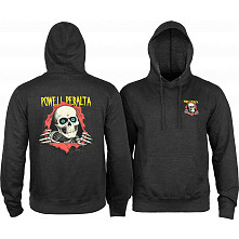 Powell Peralta Classic Ripper Lightweight Hooded Sweatshirt Charcoal