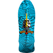 Powell Peralta Geegah Skull and Sword Skateboard Blem Deck Blue - 9.75 x 30