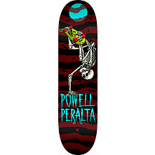 Powell Peralta Handplant Skelly Skateboard Blem Deck Burgundy - 8.25 x 31.95