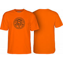 BONES WHEELS Pentagram T-shirt Orange