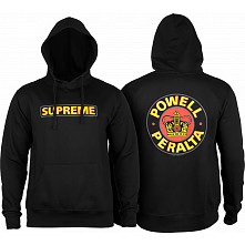 Powell Peralta Classic Supreme Lightweight Hooded Sweatshirt Black