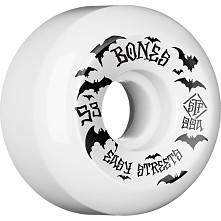 BONES WHEELS STF Bats Skateboard Wheels 53mm 99a Easy Streets V5 Sidecuts 4pk White