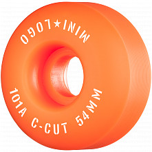 "Mini Logo Skateboard Wheels C-cut ""2"" 54mm 101A Orange 4pk"