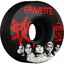 BONES WHEELS STF Pro Gravette Seed 52mm Black Wheels 4pk