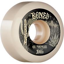 BONES WHEELS OG Formula Skateboard Wheels Desert West 52mm V5 Sidecut  4pk White