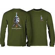 Powell Peralta Skull and Sword L/S T-shirt Military Green