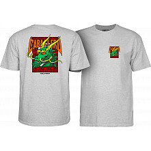 Powell Peralta Steve Caballero Street Dragon T-shirt - Athletic Heather Gray