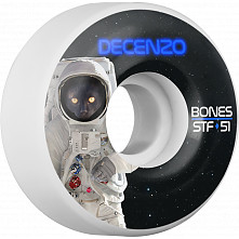BONES WHEELS STF Pro Decenzo Catsrtonaught Skateboard Wheels V2 51mm 103A 4pk