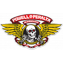 Powell Peralta Winged Ripper 5 inch Die-Cut Sticker Single - RED