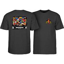 Powell Peralta Bucky Lasek Stadium T-Shirt Charcoal Heather