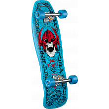 Welinder Nordic Skull Custom Complete Skateboard Blue - 9.715 x 29.75