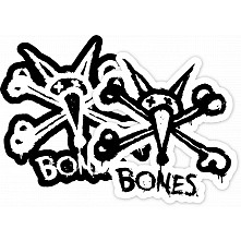 "BONES WHEELS Vato Stacked 2"" single sticker"