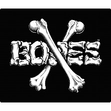 "BONES WHEELS Crossbones 12"" Sticker 10pk"