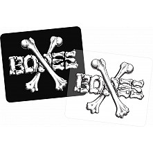 "BONES WHEELS Crossbones 3"" Sticker 20pk"