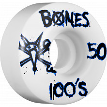 BONES WHEELS 100's 50mm (4pack)