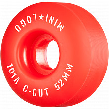 "Mini Logo Skateboard Wheels C-cut ""2"" 52mm 101A Red 4pk"