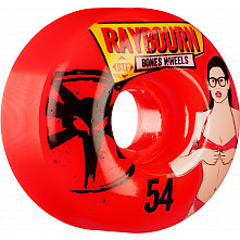 BONES WHEELS STF Pro Raybourn Phoebe 54mm Red Wheel 4pk