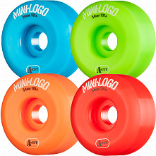 Mini Logo Skateboard Wheels A-cut 54mm 101A Assorted 4pk
