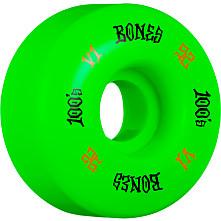BONES WHEELS 100 Skateboard Wheels V1 Standard 52mm 100A 4pk Green