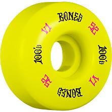 BONES WHEELS 100 Skateboard Wheels V1 Standard 52mm 100A 4pk Yellow