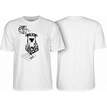 Bones Wheels Time Beasts Hourglass T-shirt White