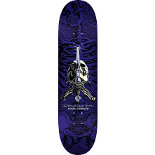 Powell Peralta Rodriguez Skull and Sword Skateboard Purple - 8.5 x 33.5