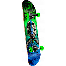 Powell Peralta Skull and Sword  Storm Complete Blue/Green - 7.88 x 31.67