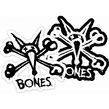 "BONES WHEELS Stacked 5"" Single Sticker"