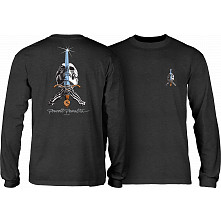 Powell Peralta Skull & Sword L/S T-shirt Charcoal Heather