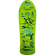 Bones Brigade Mountain Blem Skateboard Deck Green - Signed by George and Stacy