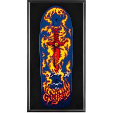 Bones Brigade Shadowbox Guerrero Blem Blue Skateboard Deck Signed by Tommy