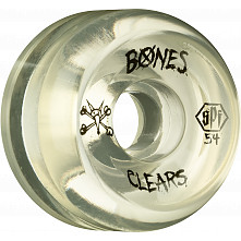 BONES WHEELS SPF Clear 54mm 4pk