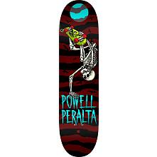 Powell Peralta Handplant Skelly Skateboard Blem Deck Burgundy - 8.25 x 31.95