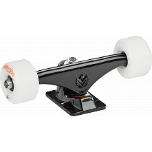 "Mini Logo 8.38"" Black Trucks + ML Bearings + A-cut 53mm x 101a White Wheels"
