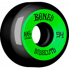 BONES WHEELS 100 #2 V5 Skateboard Wheel 54mm 4pk Black
