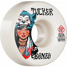 BONES WHEELS PRO STF Skateboard Wheels Tucker We Are Wolves 52mm V1 Standard 103A 4pk